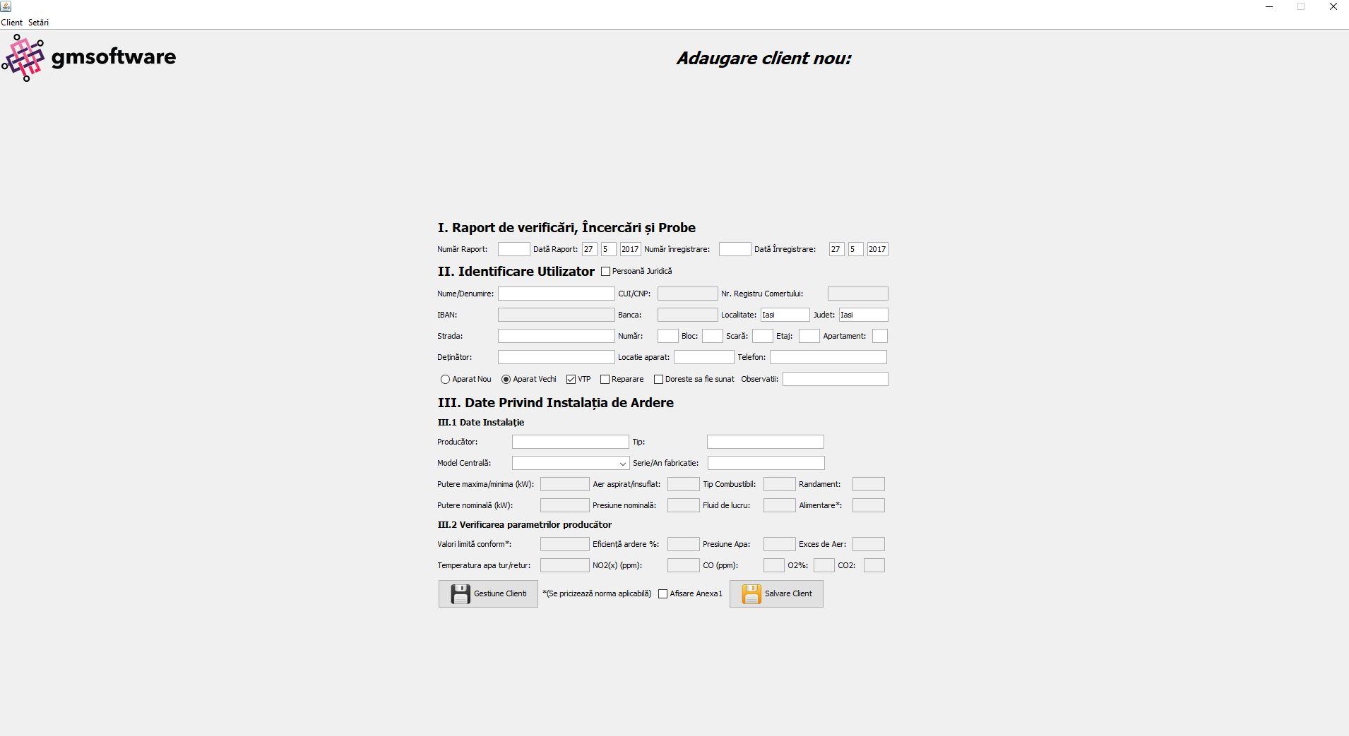 Adaugare Client Nou